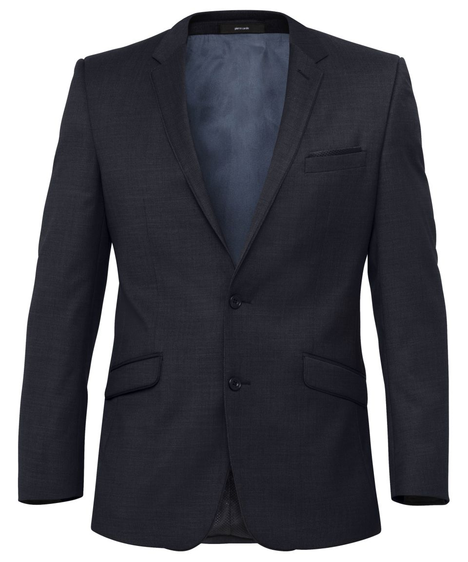 Ink Wool Blend 2 Button Single Breasted Suit Jacket