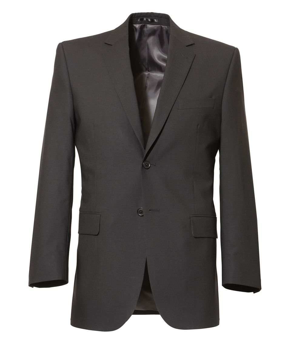 Black Crush & Stain Resistant, High Twist Wool Suit